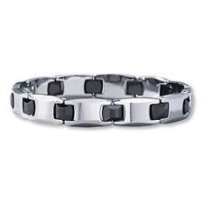 Bracelet Tungsten Carbide 8.5 -9 inch H Link Design Men's Unisex- Birthday- Gift