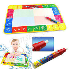 Children Aqua Doodle Learning Drawing Toys 1 Painting Mat + Water Drawing Pen