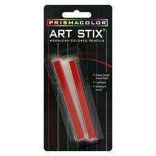 Prismacolor Art Stix Woodless Colored Pencils, Red, 2/Pack (50389)
