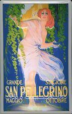 Blechschild Nostalgieschild San Pellegrino Italien 20x30cm