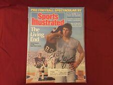 MARK BAVARO SIGNED 1987 SPORTS ILLUSTRATED/ NOTRE DAME, NEW YORK GIANTS TE