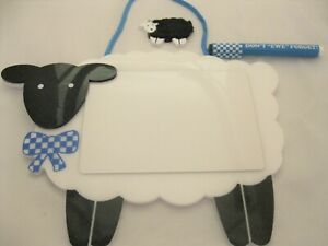 VINTAGE AVON SHEEP MESSAGE BOARD W/ MAGNETIC PEN AND ERASER ~1990s ~ NEW IN BOX