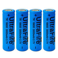 4pcs 3000mah 3.7V 18650 Li-ion Rechargeable Flat Top Power Battery Cell For Vape