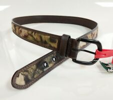 "Mossy Oak Genuine Leather - ""Hired Hand"" Belt - Size 40 - Camo/ Dark leather"