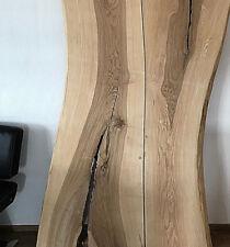 NEU Tischplatte Barplatte Garderobe Massivholz mit Baumkante - 5 cm stark - NEU