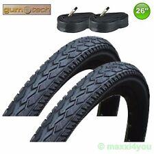 01022616k - 2 x Gum-Tech neumáticos de bicicleta con manguera 26 x 1,95 - 47-559 - negro