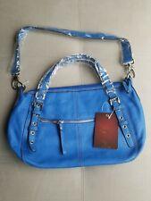 Tignanello Handbag Royal Blue Pebbled Leather Shoulder Bag NEW