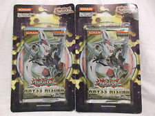 Yugioh (2x) ABYSS RISING -factory sealed booster packs**FREE SHIP**