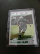 2004 Jonathan Vilma 186 Topps Chrome Rookie Refractor Football Card NFL