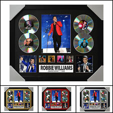 Robbie Williams 4CD Signed Framed Memorabilia Limited Ed 2017-Multiple Variation
