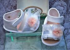 ~BABY DEER~  NEW IN BOX ~ CRIB STAGE  ~ BABY  GIRL SANDALS   SIZE 2
