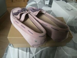 UGG MEENA 2 FLAT SHOES / LOAFERS  PURPLE SIZE 4.5 UK  NEW IN BOX