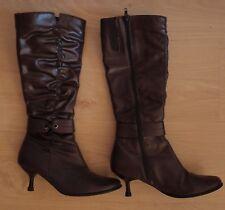 cb0b4ac68 Calzado de mujer botas de caña alta marrón