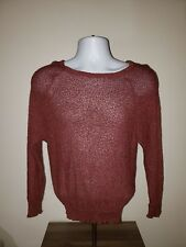French Rags Hand Loomed Size 2 Burgundy Sweater Made in Usa 100% Rayon