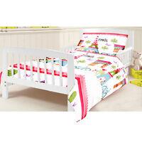 Cotbed Junior Duvet Cover Set Paris Children's Kids Toddler Cot Bed Bedding Girl