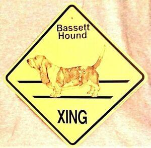 Bassett Hound Dog Xing Sign