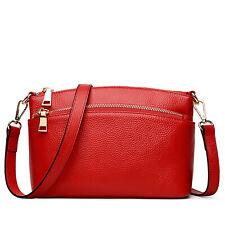 Women Handbags Genuine Leather Crossbody Bag With Front Zip Pocket