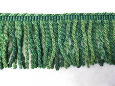 1.2 mt of Green Zoffany 12cm fringe fabric upholstery trimming sewing trim