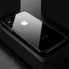 For Apple iPhone XS Max XR X Case Cover Hard Clear Tempered Glass Back Protector