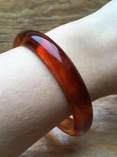 Vintage Plastic Tortoiseshell Bangle/Chunky/Retro/80's/Brown/Orange/Hippy/Boho