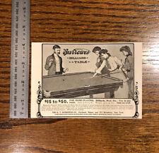 1904 Burrowes Billiard Tables Vintage Antique Advertising US New York Maine Pool