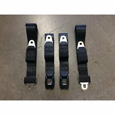 2x Adjustable Seat Belt Car Truck Lap Belt Universal 2 Point Safety Travel Black