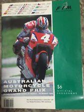 1995 AUSTRALIAN MOTORCYCLE GP  RACE PROGRAMME MOTOGP DOOHAN