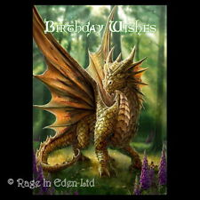 *FRIENDLY DRAGON* Anne Stokes Fantasy Art Blank Birthday Card  (AN16)