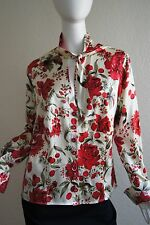 ESCADA Cherry and Flowers Rare Vintage Blouse Top Size 44