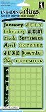 INKADINKADO Clings Rubber Stamps MONTH DATA CALENDAR 60-60139 January February