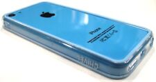 Blue Clear Soft TPU Protector Bumper Frame Snap Case Cover for Apple iPhone 5C