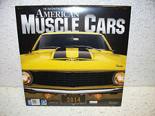 2014 American Musclecars 18 Month Calendar Sealed NEW!! Ford Chevy Mopar AMC