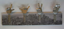 METAL DANDIE HANDS WITH New York City Scape Bag Coat hook hanging Rack