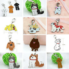 Animal Pet Dog Key Chains Husky The Poodle Boxer Bulldog Pendant Metal Keyrings