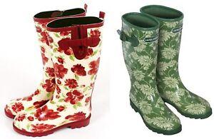 Laura Ashley Garden Wellies Kimono (Green) OR Cressida (Red) sizes 3/4/5/6/7/8