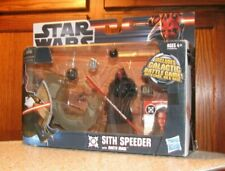 Star Wars 2012 SITH SPEEDER with DARTH MAUL Action Figure & Galactic Battle Game