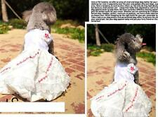dog dress princess skirt white jumpsuit wedding clothes M L XL