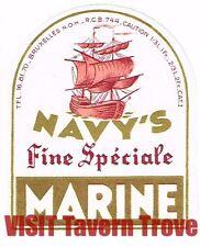 Navy's Fine Speciale Marine 1/3 Litre Belgium Beer Label Tavern TRove