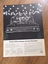 1965 Volkswagen Ad A New VW is Cheaper at Twice Price