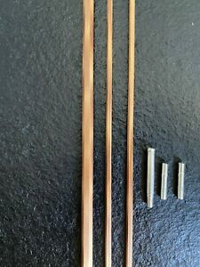 @bamboo fly rod blank@ with nickel silver ferrules