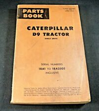 CAT Caterpillar D9 Tractor Bulldozer Direct Drive Parts Manual Book 18A1-18A2505