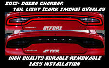 2015 - 2018 Dodge Charger Full Tail Light Dark Smoke Overlay Tint smoked s