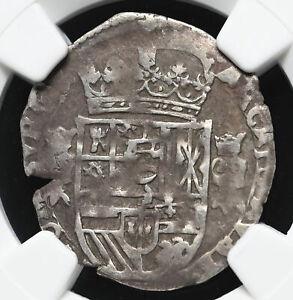 SPANISH BURGUNDY. Philip IV, 1621-1665, Silver 1/32 Patagon. 1622, NGC VF25