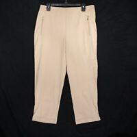 Zenergy Chico's Women's Beige Athletic Yoga Capri Pants - Size Medium