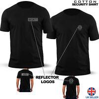 Mens Security TShirt Work Wear Doorman Bouncer Nightclub Club SIA Uniform Top