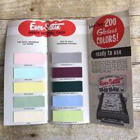 Vintage Brochure Ever-Satin Paint Colors Rubber Base Wall Mid Century Decor