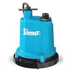 Simer Geyser 2310-04 1/4 HP Sumbersible Utility Pump, Cast Aluminum, 25ft Cord
