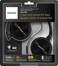Cascos Philips Negros y Microfono SHL3065 3.5 1000mW Diadema Auriculares Cerrado