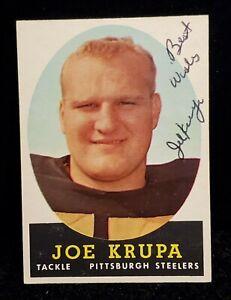 1958 TOPPS #104 JOE KRUPA AUTOGRAPHED STEELERS CARD