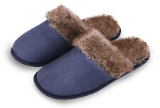 Men's Scuff Slippers Shoes Indoor House Home Warm Winter Slippers